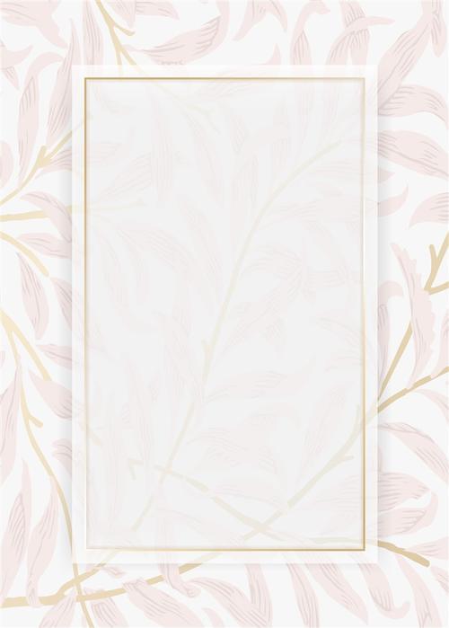清新粉色花纹背景
