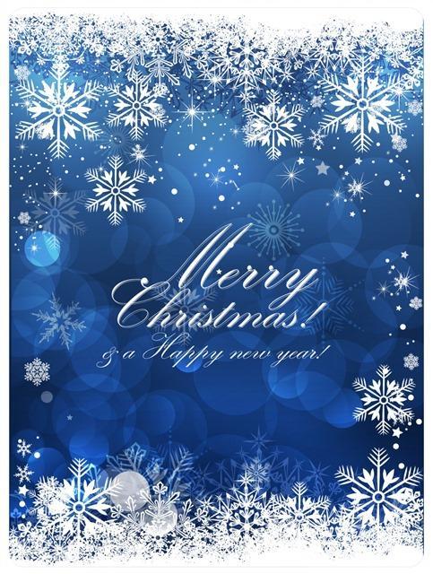 圣诞节日雪花贺卡背景