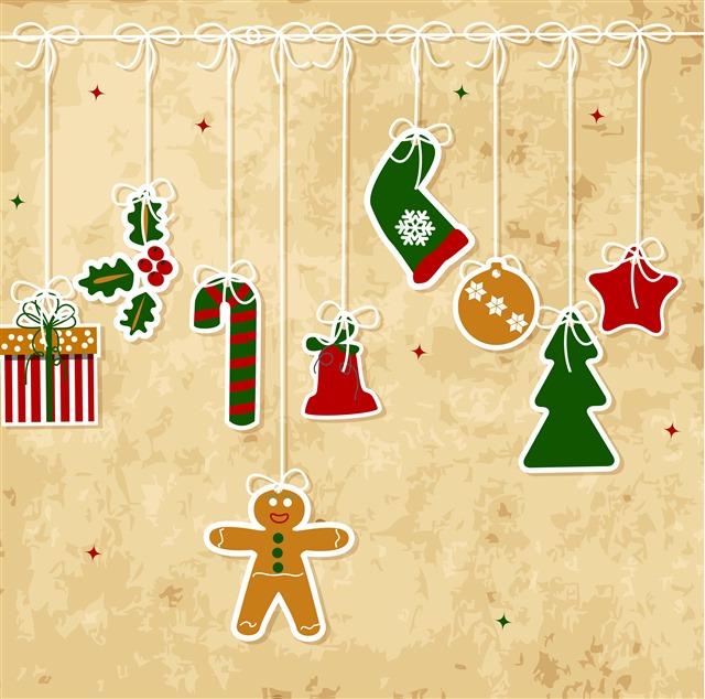 复古圣诞卡片图片