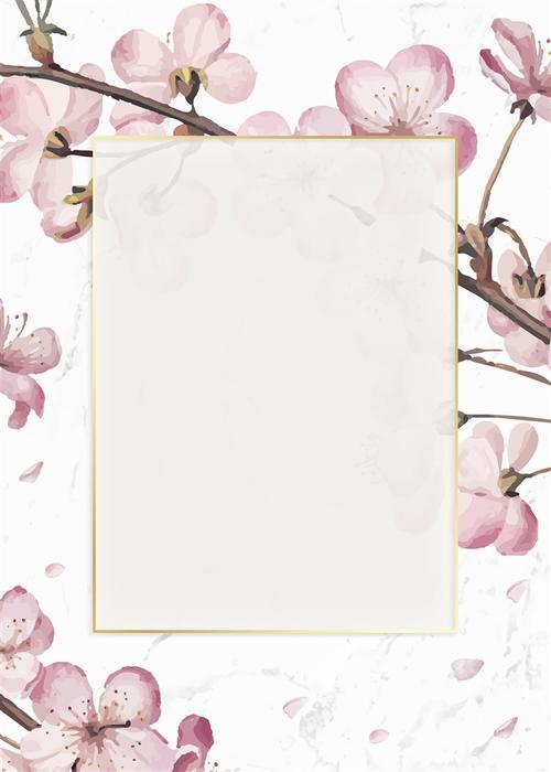 浪漫婚礼花卉背景