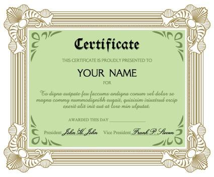 英文版文凭证书模板图片