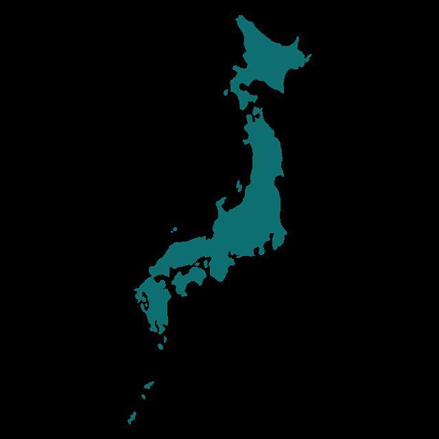 彩色日本地图轮廓图