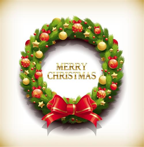 圣诞节松枝花环图片