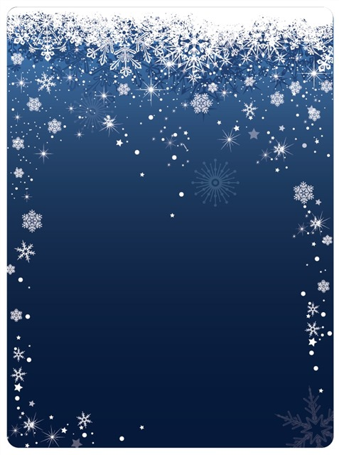 圣诞节雪花贺卡背景图