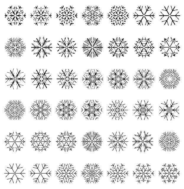 雪花形状图片