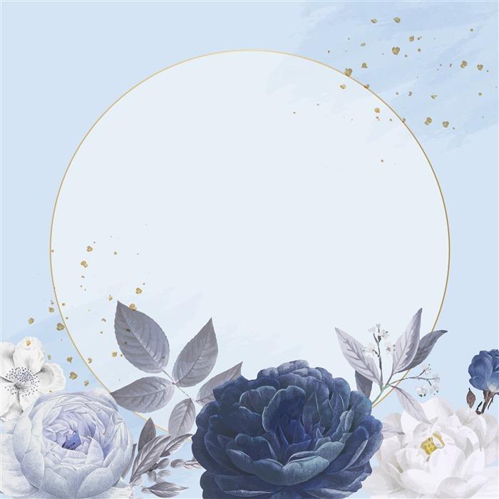 水彩花卉ppt背景