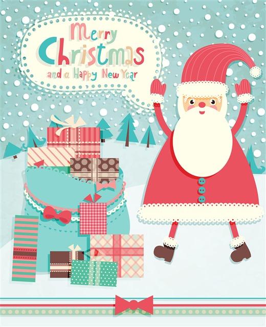 圣诞节卡片简单又好看