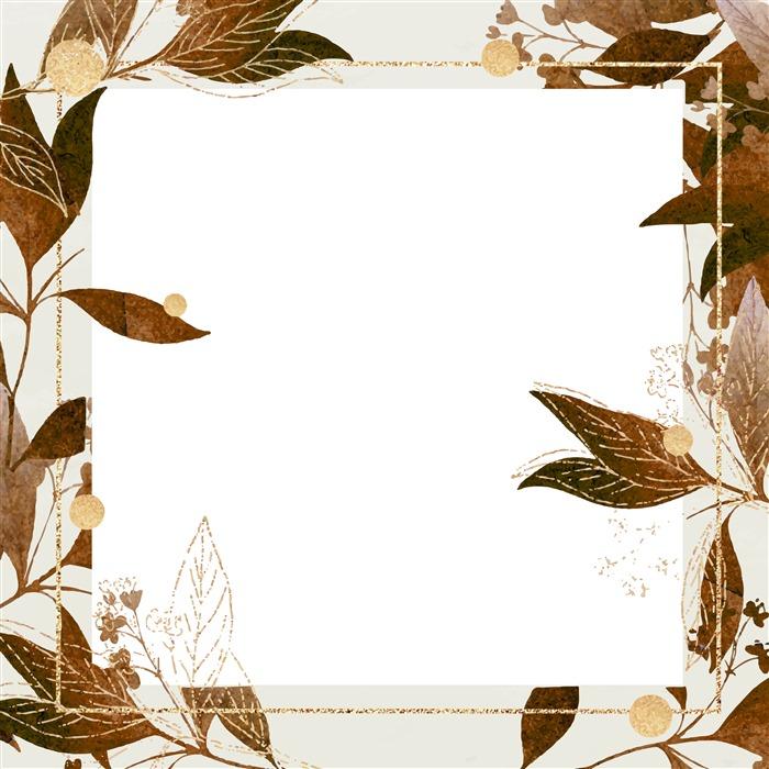 秋叶边框背景