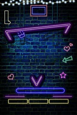 电商霓虹灯背景墙图片