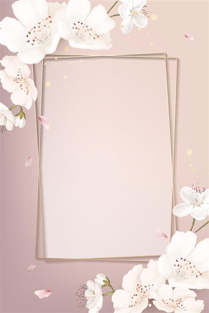 樱花边框背景