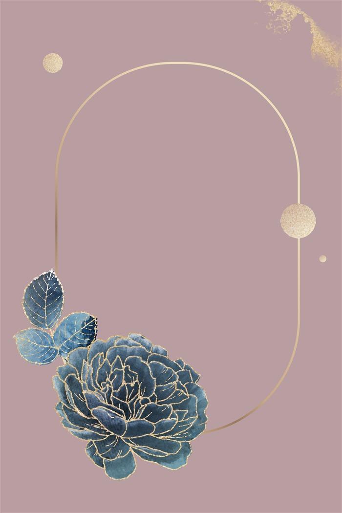 古风描金花卉背景