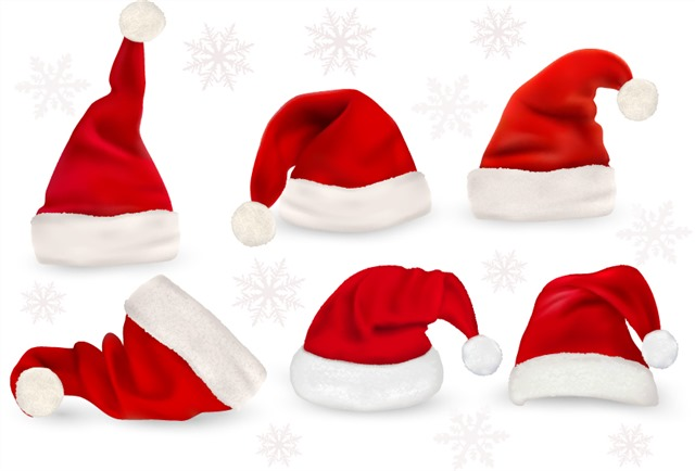 好看的红色圣诞帽图片