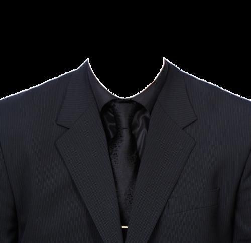 黑西装证件照衣服抠图模板