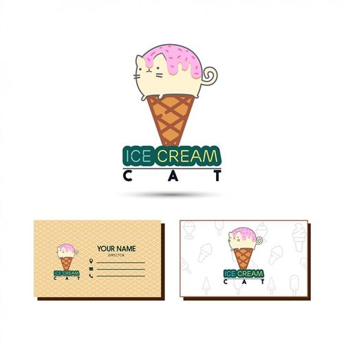 卡通冰淇淋logo标志