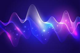 炫酷粒子波浪电商背景图