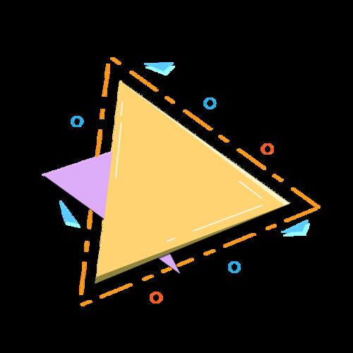 彩色可爱三角形边框