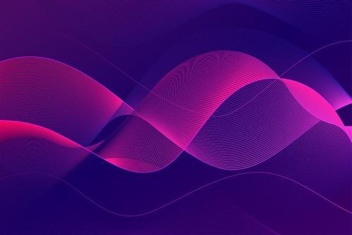 紫色ppt波纹背景素材