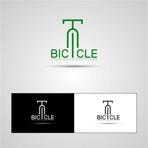 抽象自行车符号logo