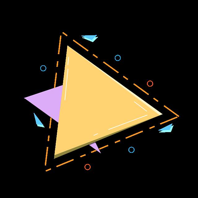 三角几何边框