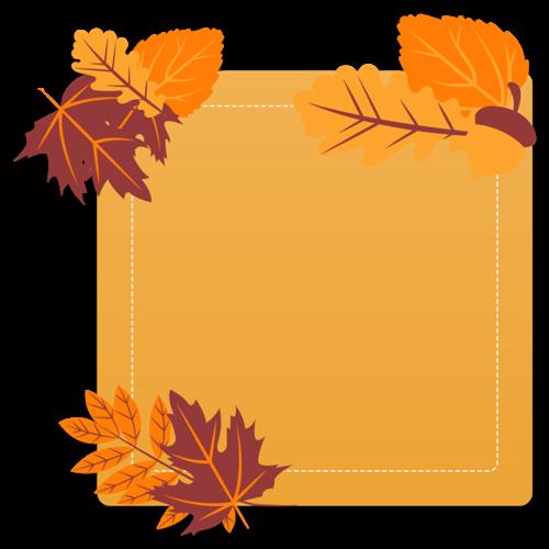 唯美清新秋冬植物边框