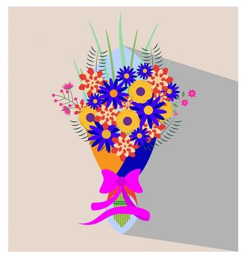 暖色系鲜花花束