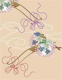 日式图案背景图片