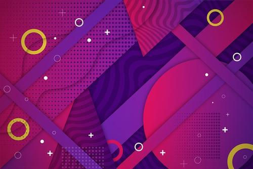 几何漂浮元素背景
