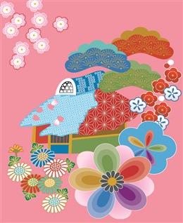 日式风花纹背景