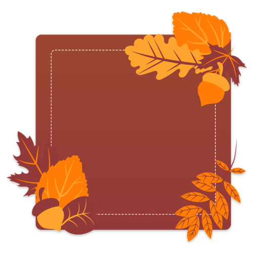 秋冬植物背景边框