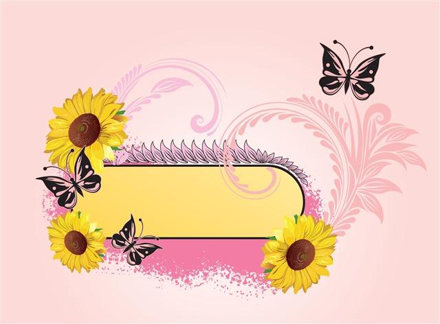 向日葵蝴蝶对话框