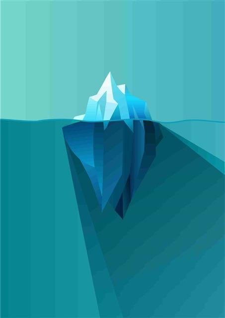蓝色冰块背景