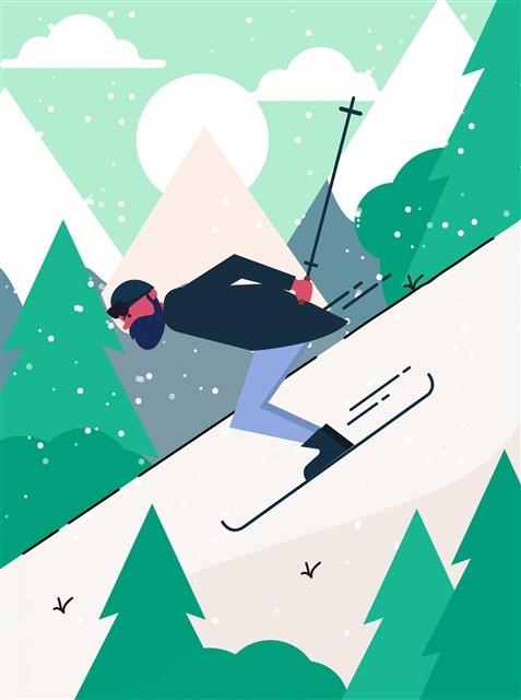 冬季滑雪场景图片