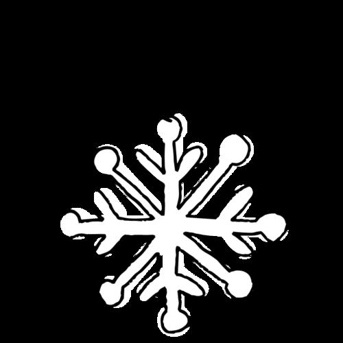 黑白雪花装饰图片