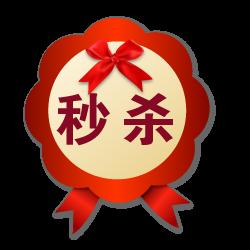 双十二红色简约通用风格秒杀促销标签