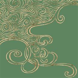 绿色鎏金纹理背景