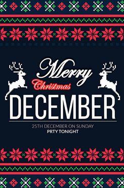 像素风圣诞节创意海报