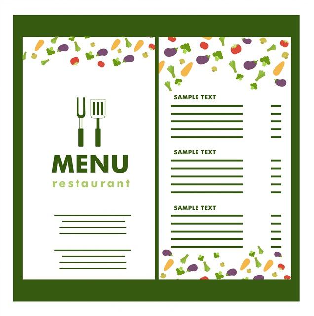 餐厅菜单样机