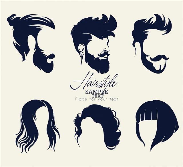 欧美发型矢量图
