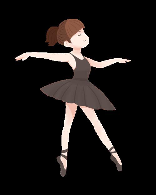 跳芭蕾舞的女孩动漫图片