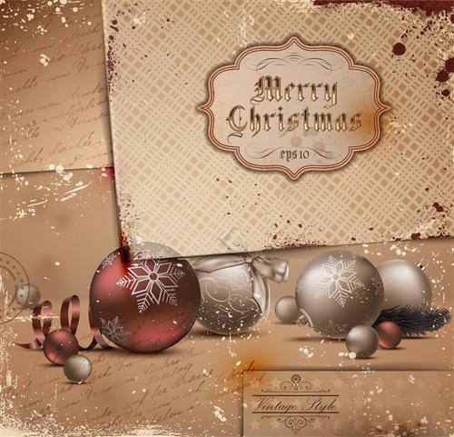 圣诞节贺卡背景矢量