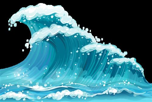 日式海浪插画