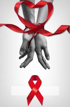 预防艾滋病手绘海报