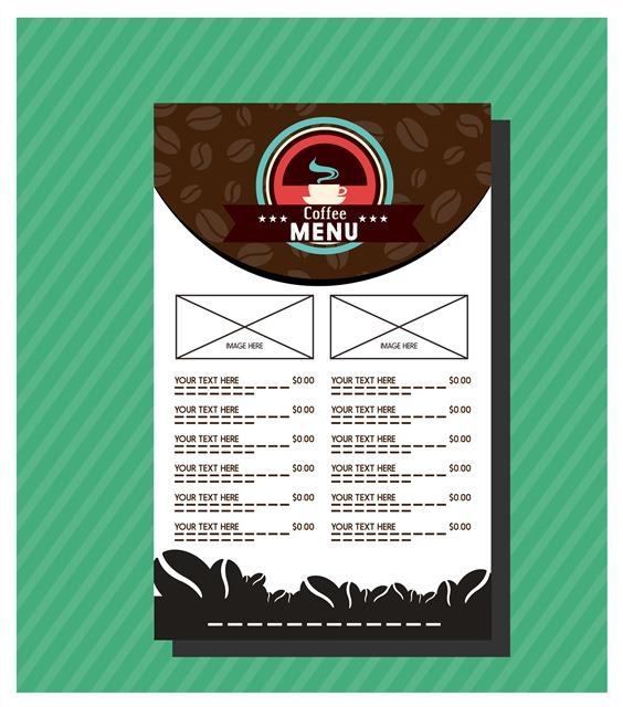矢量咖啡菜单设计