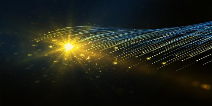 蓝色震撼科技线条背景图片