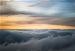云海霞光摄影图