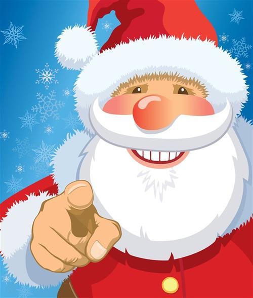 手绘圣诞老人背景图片