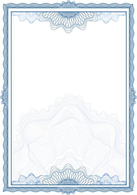 荣誉证书花边边框