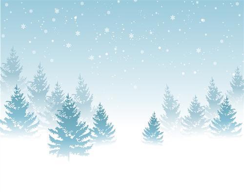 圣诞节雪树背景图片