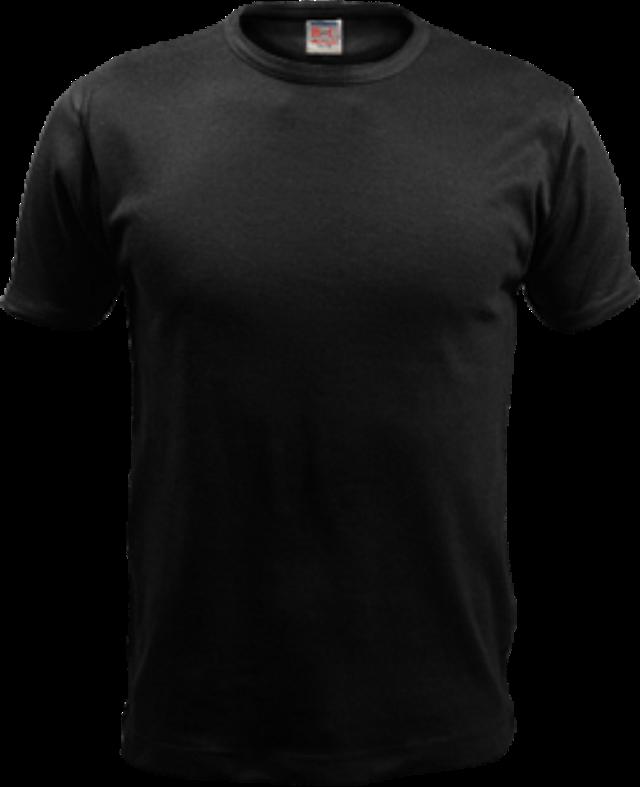 黑色t恤无图案样机