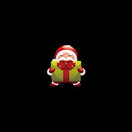 手抱礼盒圣诞老人png图标